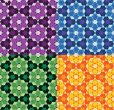 Geometric ornament. East ornament of geometrical shapes: hexagons, stars Royalty Free Stock Image