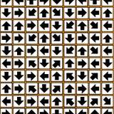 Geometric ornament of arrows seamless pattern Stock Photos