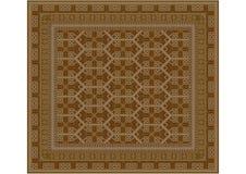 Geometric ornament inbrownshades for carpet Stock Photo