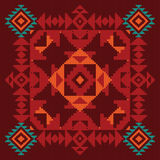 Geometric ornament in ethnic style Stock Image