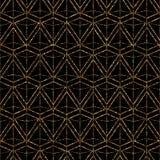 Geometric ornament gold seamless pattern. Modern art deco stylis Stock Photo