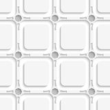 Geometric ornament on gray seamless Stock Photos