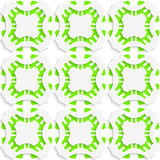 Geometric ornament with green seamless Royalty Free Stock Photos