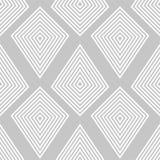 Geometric ornament. Light gray seamless pattern Stock Photo