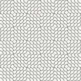 Geometric ornament line scales. Black sinuous lines on a white background Stock Photos