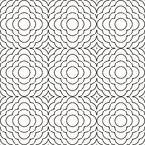 Geometric ornament line scales. Black sinuous lines on a white background Royalty Free Stock Photos