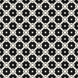 Geometric ornament pattern. Vector seamless texture with carved. Shapes, diagonal lattice, squares. Abstract monochrome ornamental background. Repeat design for Royalty Free Stock Photography