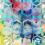 Geometric ornament polygons Royalty Free Stock Images