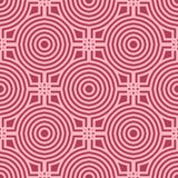 Geometric ornament. Red and pale pink seamless pattern Stock Photos