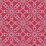 Geometric ornament. Red and pale pink seamless pattern Royalty Free Stock Images