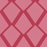 Geometric ornament. Red and pale pink seamless pattern Royalty Free Stock Photos