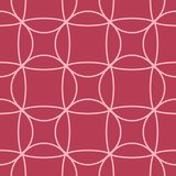 Geometric ornament. Red and pale pink seamless pattern. For web, textile and wallpapers Stock Photo