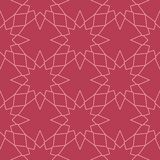 Geometric ornament. Red and pale pink seamless pattern. For web, textile and wallpapers Stock Images