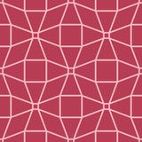 Geometric ornament. Red and pale pink seamless pattern. For web, textile and wallpapers Royalty Free Stock Photography