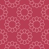 Geometric ornament. Red and pale pink seamless pattern. For web, textile and wallpapers Royalty Free Stock Images