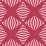 Geometric ornament. Red and pale pink seamless pattern. For web, textile and wallpapers Royalty Free Stock Photos