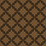 Geometric ornament of stylized flowers and rhombuses. Royalty Free Stock Photos