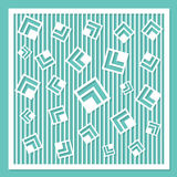 Geometric ornament template. card for laser cutting. decorative design element. circular pattern. Stock Images