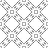 Geometric ornament. White and black seamless pattern. For web, textile and wallpapers Stock Image