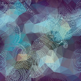 Geometric Ornament With Paisley. Stock Photo