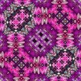 Ornamental pattern. Geometric ornamental carpet design in fuchsia color. Geometric ornamental carpet design in fuchsia color stock illustration