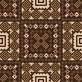 Geometric ornamental pattern in brown Stock Photo