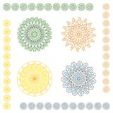 Geometric ornaments: pastel. Geometric ornaments from vector file; eps file included as additional format Stock Image