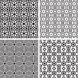 Geometric Ornaments Pattern Set. Stock Image