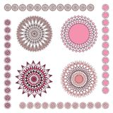 Geometric ornaments: pink. Geometric ornaments from vector file; eps file included as additional format Stock Photography