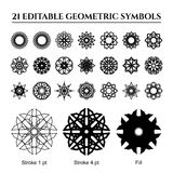 Geometric Ornaments Set Royalty Free Stock Photos