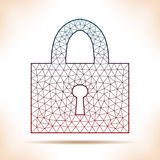 Geometric padlock. Royalty Free Stock Photos