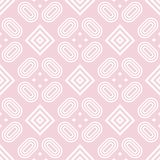 Geometric pale pink seamless pattern for fabrics Royalty Free Stock Images