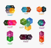 Geometric paper business infographics layouts Stock Image