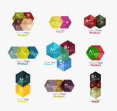 Geometric paper business infographics layouts Stock Photos