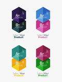 Geometric paper business infographics layouts Stock Photography