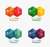 Geometric paper business infographics layouts. Vector set of geometric paper business infographics layouts Royalty Free Stock Photography