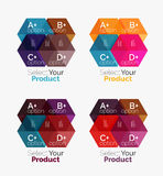 Geometric paper business infographics layouts. Vector set of geometric paper business infographics layouts Royalty Free Stock Photo