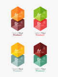 Geometric paper business infographics layouts Royalty Free Stock Image