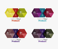 Geometric paper business infographics layouts. Vector set of geometric paper business infographics layouts Royalty Free Stock Image