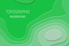 Geometric paper cut background. Topography map cpncept. Vector illustration stock illustration