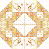 Geometric patchwork abstract elements seamless pattern Stock Images