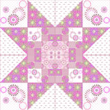 Geometric patchwork abstract seamless pattern background Royalty Free Stock Photo