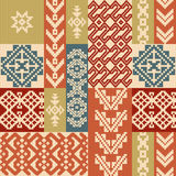 Geometric patchwork pattern. Geometric patchwork ornamental pattern in ethnic style royalty free illustration