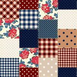 Geometric patchwork pattern of a squares. Royalty Free Stock Photography
