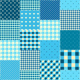 Geometric patchwork pattern of a squares. Royalty Free Stock Images