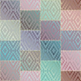 Geometric patchwork pattern of a squares. Royalty Free Stock Photos