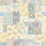 Geometric patchwork pattern of a squares. Stock Photography