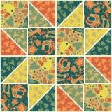Geometric patchwork pattern warm colors