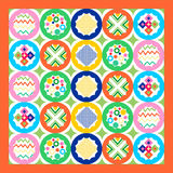 Geometric patchwork seamless pattern, Royalty Free Stock Image