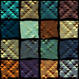 Geometric pateern of triangles in patchwork style Stock Photography